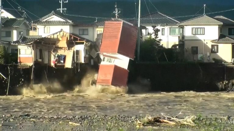 Rescue efforts for people stranded in flooded areas were in full force after Typhoon Hagibis wrought destruction across wide swathes of Japan
