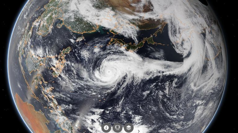 As much as 50cm of rain could hit some parts of Japan. Pic: NOAA
