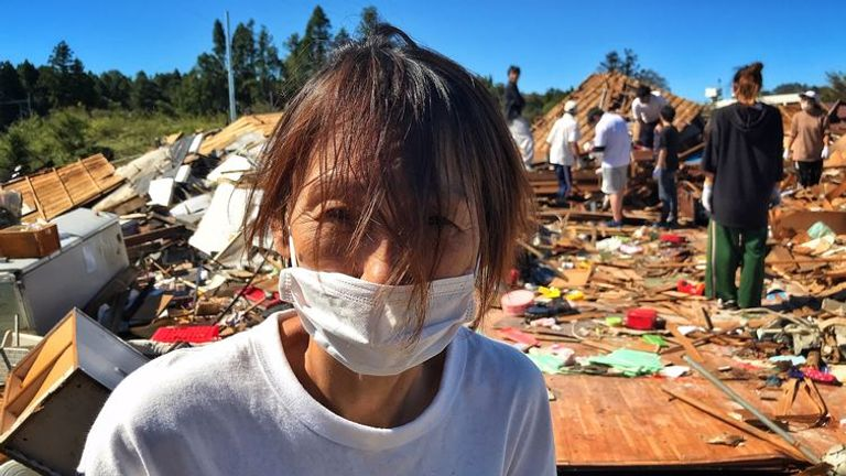 Kazumi Yarita. She and her family survived the typhoon in Japan. Pic: Petemilnes