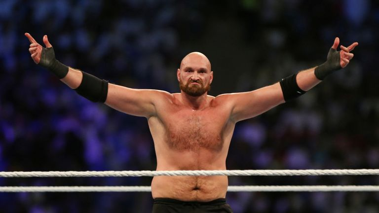 Fury is rumoured to have been paid £12m for his WWE appearance