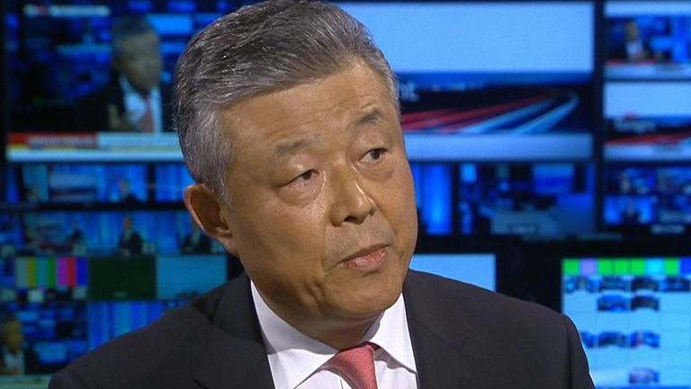The Chinese ambassador to the UK says that allegations of Uighur detention camps are 'not true'