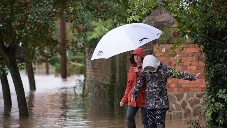 Weather warnings are in place for Ireland, Northern Ireland, England and Wales