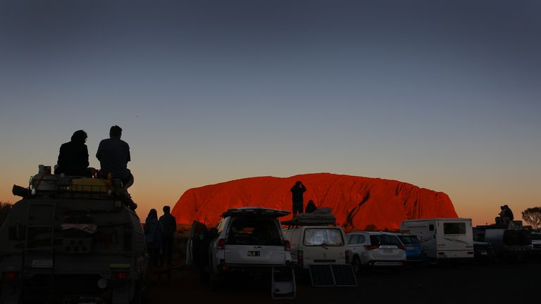 The site is a magnet for tourists in Australia