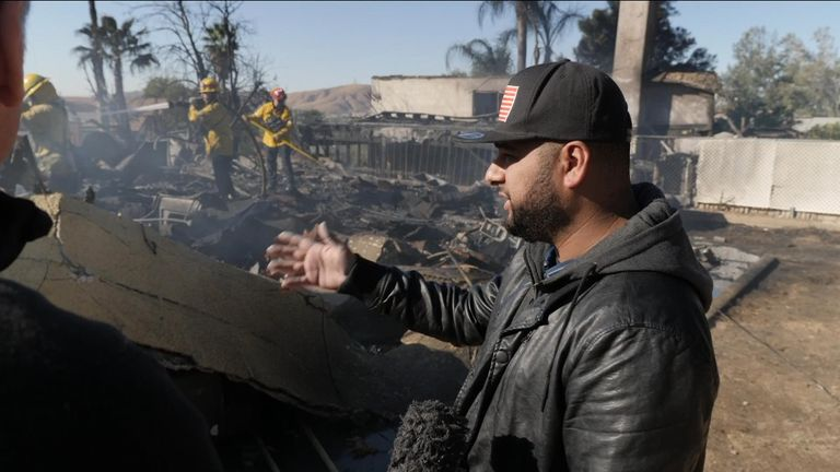 Matt Valdivia's house has been reduced to smoke and ashes