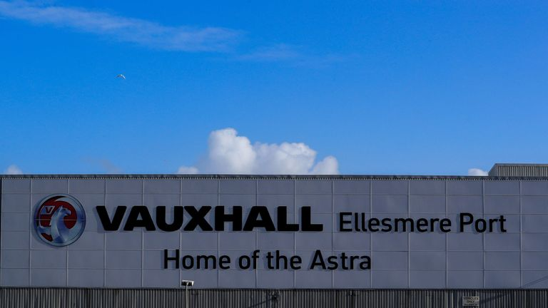 Vauxhall car plant in Ellesmere Port, Cheshire, home of the Vauxhall Astra