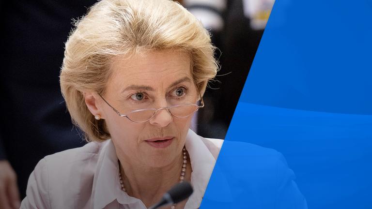 Ursula von der Leyen will take over from Mr Juncker