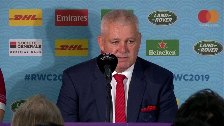 Wales head coach, Warren Gatland at presser.