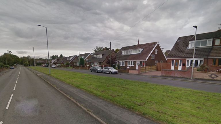 The crash happened on Ashton Road inGolborne, Wigan