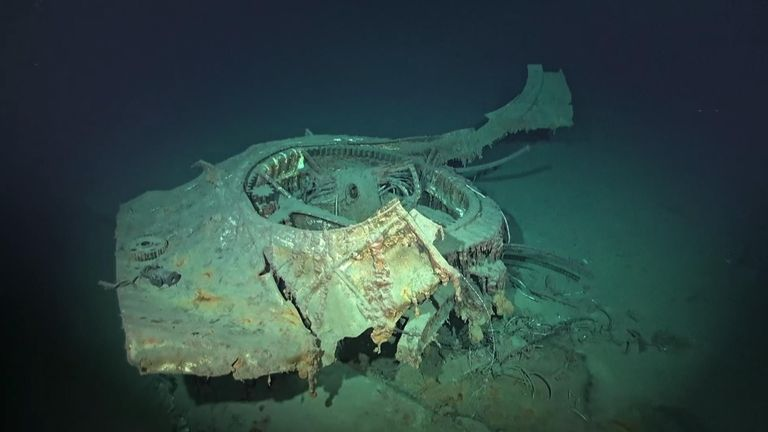 A gun turret from the wreck Pic: Vulcan, Inc