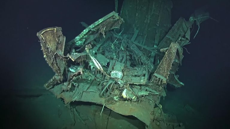 The ship was found almost four miles down