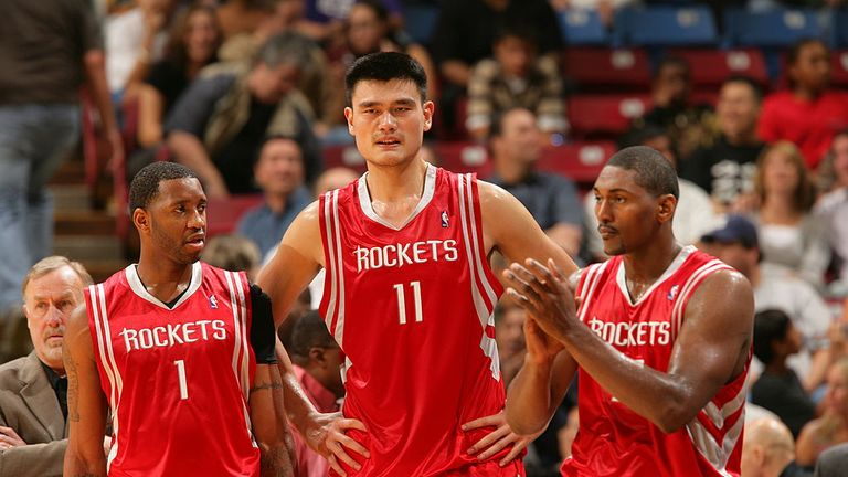 Celebrated Chinese player Yao Ming played with the Rockets for eight years
