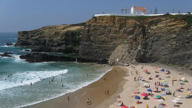 The tragedy happened at Zambujeira do Mar in southern Portugal.