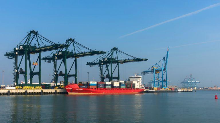 The Belgian port of Zeebrugge