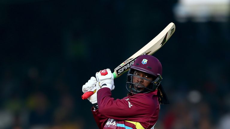 during the T20 match between ICC World XI and West Indies at Lord's Cricket Ground on May 31, 2018 in London, England.