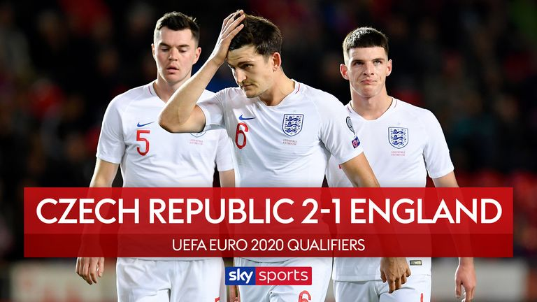 Watch highlights from England's 2-1 loss to Czech Republic
