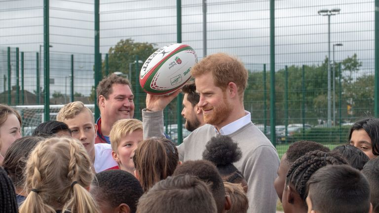 Prince Harry is a patron of the Rugby Football Union