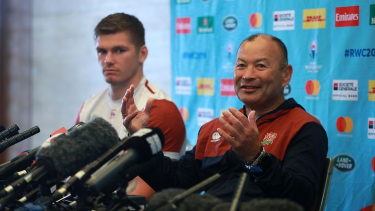 Eddie Jones spoke to the media in Tokyo on Tuesday in the build-up to Saturday's match against the All Blacks