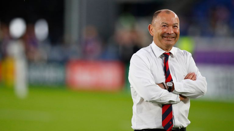 YOKOHAMA, JAPAN - OCTOBER 26: Eddie Jones head coach of England during the Rugby World Cup 2019 Semi-Final match between England and New Zealand at International Stadium Yokohama on October 26, 2019 in Yokohama, Kanagawa, Japan. (Photo by Lynne Cameron/Getty Images) ***Eddie Jones ***