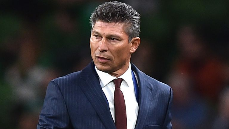 Bulgarian manager Krasimir Balakov pictured on the touchline