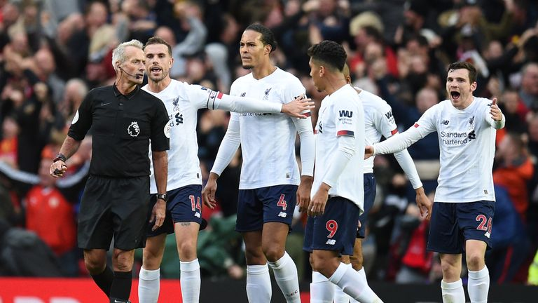 Martin Atkinson, one of the Premier League's most experienced officials, ran the rule over Manchester United vs Liverpool on Sunday