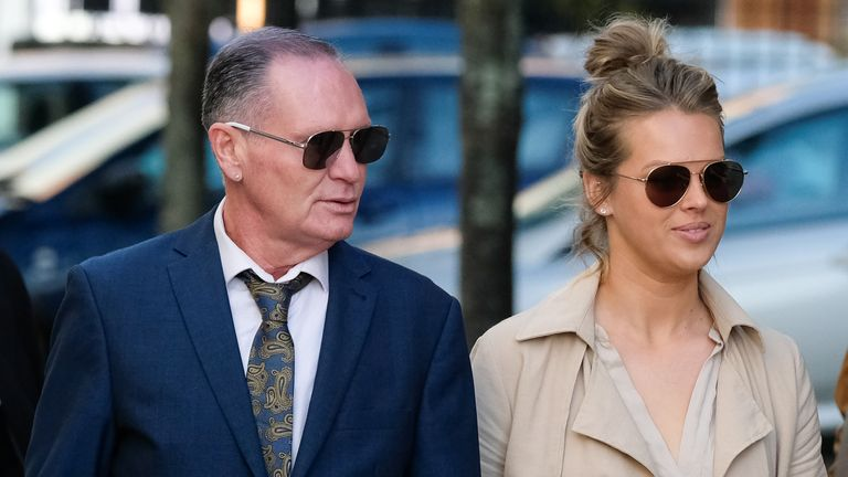Paul Gascoigne arrives at Teesside Crown Court on the fourth day of his trial for sexual assault