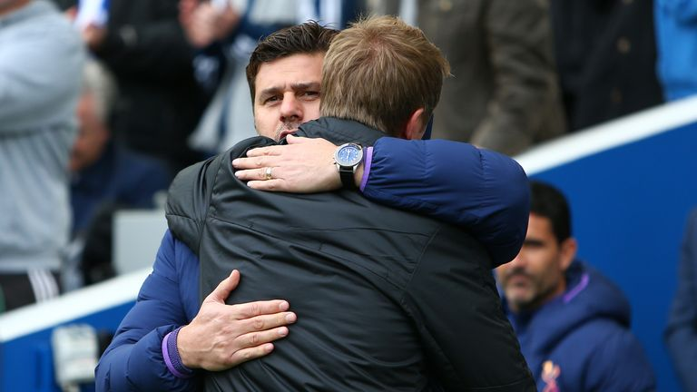 Mauricio Pochettino says his belief in Tottenham is strong despite losing to Brighton, but admits his future is out of his hands.