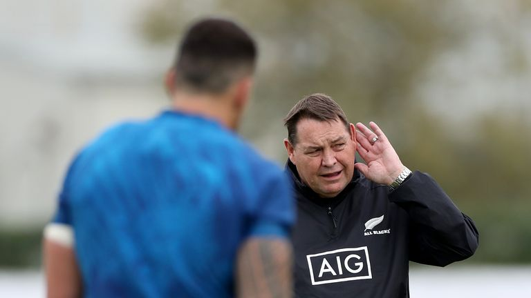 New Zealand head coach Steve Hansen was unhappy at a journalist's question after their Rugby World Cup semi-final defeat to England