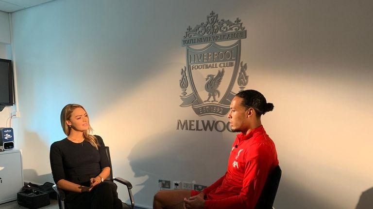 Laura Woods meets Liverpool defender Virgil van Dijk