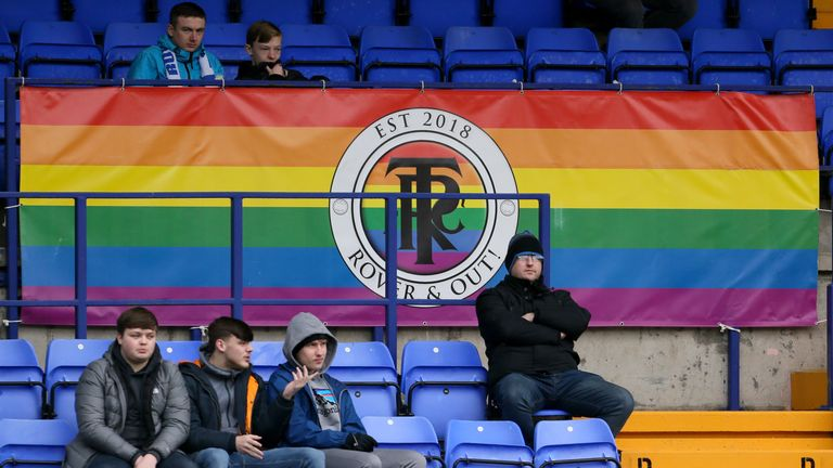 Rover & Out represent Tranmere's LGBT society and believe in 'fairness and equality' in football