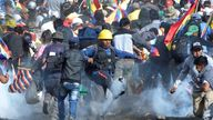 Clashes in Bolivia have turned violent