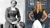 American abolitionist leader Harriet Tubman and Julia Roberts