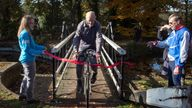 Russ Mantle cycled his millionth mile on Thursday