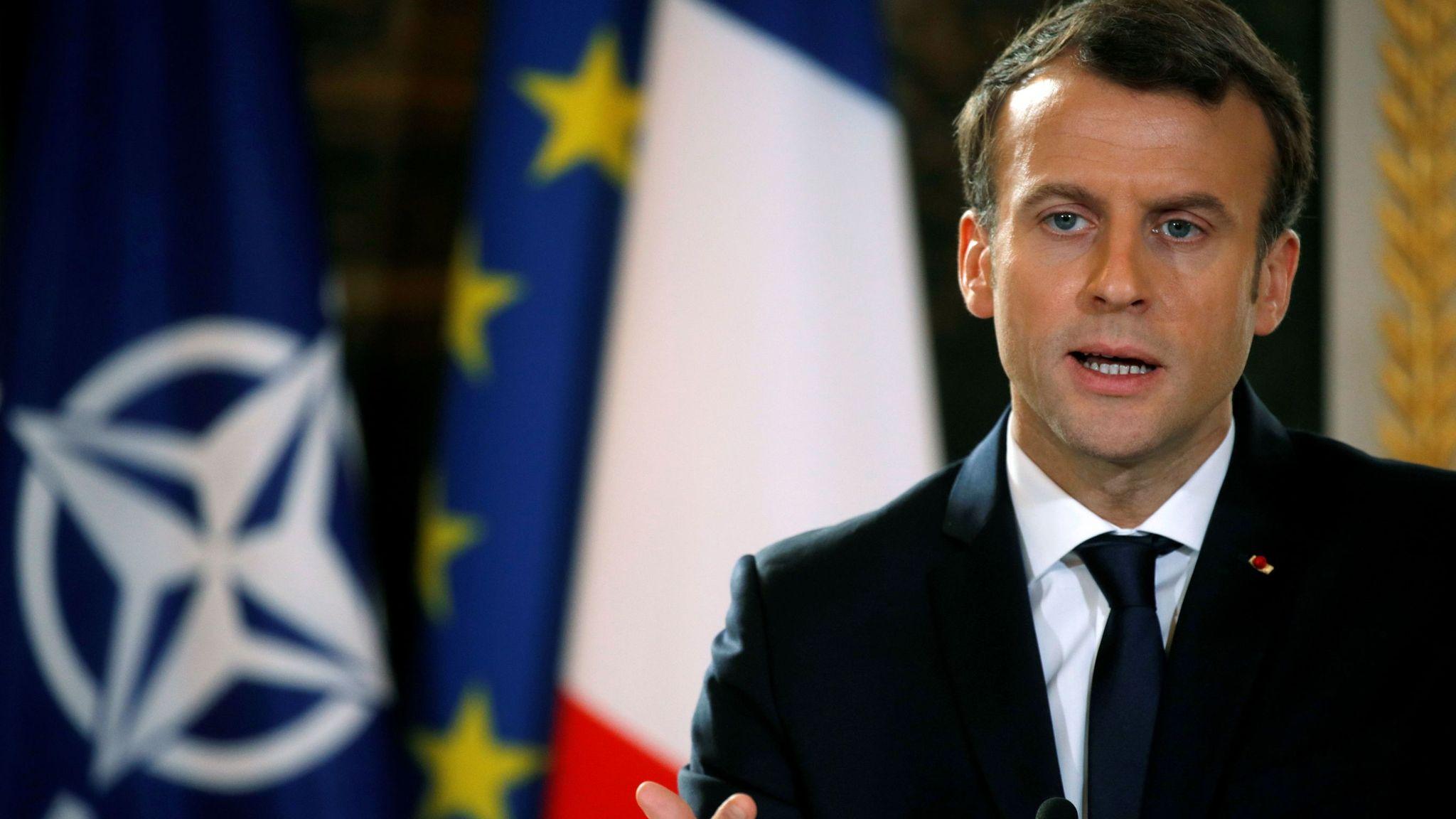Nato Is Experiencing Brain Death Warns French President Emmanuel Macron World News Sky News