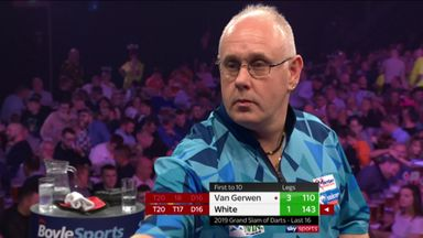 White breaks MVG with 143 checkout