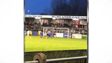 Keeper smashes light after penalty miss