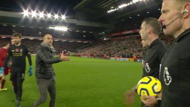 Pep 'thanks' referee after Anfield controversy