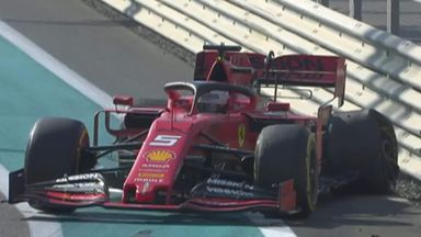 Vettel crashes out of P1