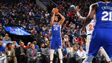 Simmons drops first NBA three-pointer!