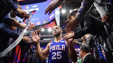 Twitter reacts to Simmons' first NBA three