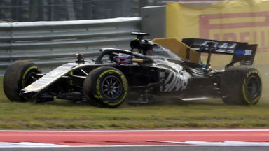 Grosjean in the wall