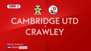 Cambridge 2-1 Crawley