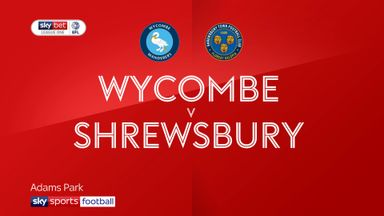 Wycombe 1-0 Shrewsbury