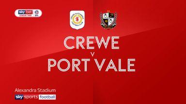 Crewe 0-1 Port Vale