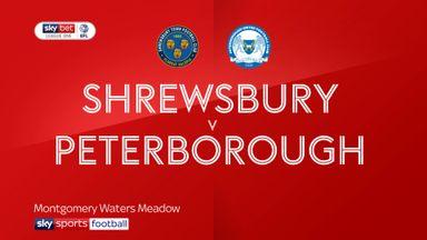 Shrewsbury 1-0 Peterborough