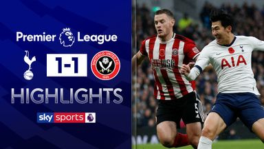 Sheffield Utd hold Spurs after VAR drama