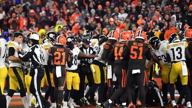 Browns win marred by wild brawl