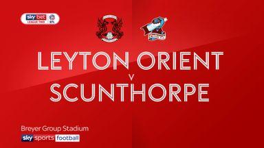 Leyton Orient 0-2 Scunthorpe