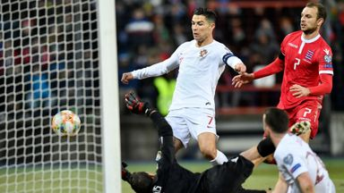 Ronaldo scores 99th Portugal goal - just!