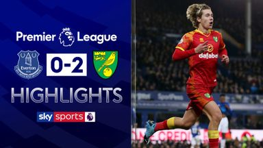 Norwich stun Everton at Goodison