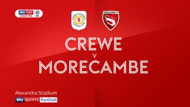 Crewe 5-0 Morecambe